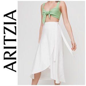 Aritzia Wilfred Eleta Linen Skirt